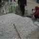 Flint white pebbles for paint mixing