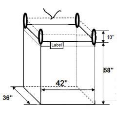 firewood big bag dimensions
