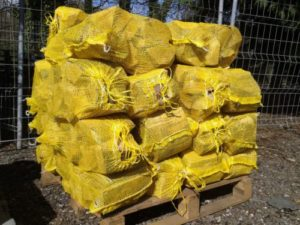 small mesh firewood bags