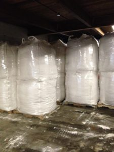 perlite bulk bags on pallet